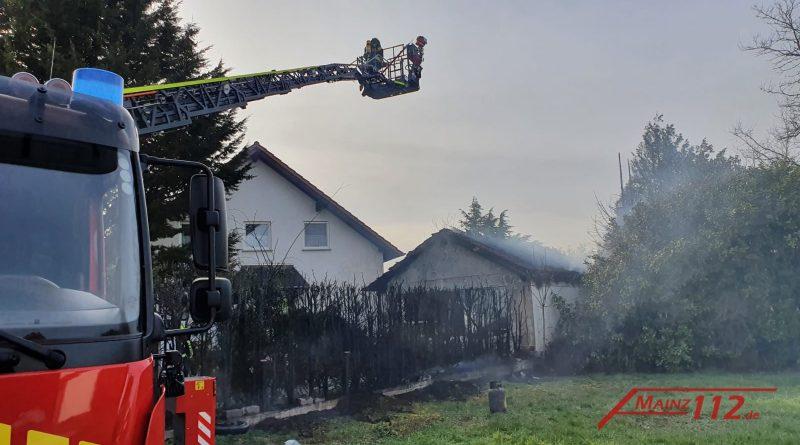 Garagenbrand in Wöllstein